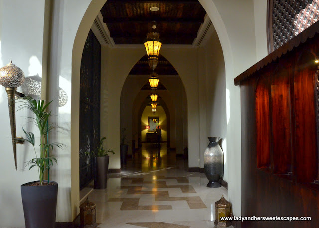 aisle to Tilal Liwa rooms
