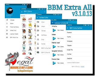 BBM Mod Multi BBM EXTRA ALL The Begal v3.1.0.13 Apk Terbaru