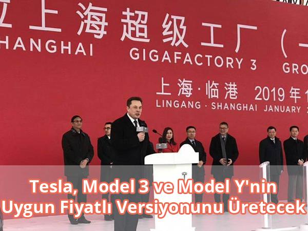 Uygun Fiyatlı Tesla Model 3 ve Model Y