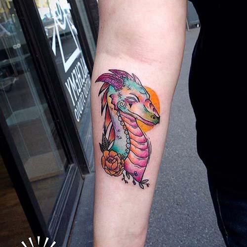 dragon head tattoos ejderha başı dövmeleri