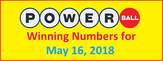 PowerBall Winning Numbers for Wednesday, 16 May 2018