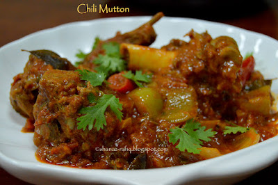 Chili Mutton ~ Mutton Sukka
