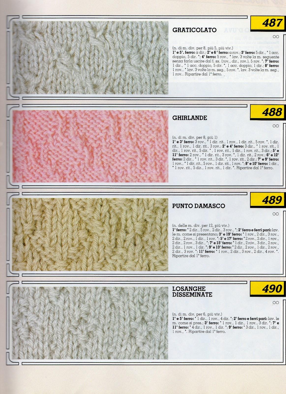 Schemi Tappeti Ai Ferri : Lo spazio di lilla collezione punti ai ferri knitting