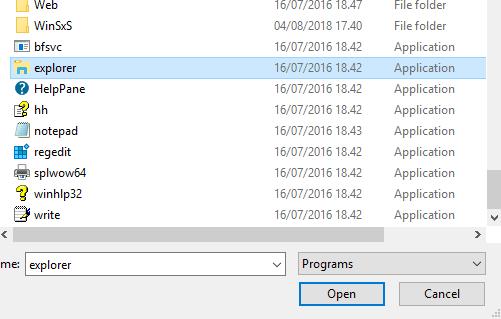 Explorer Windows