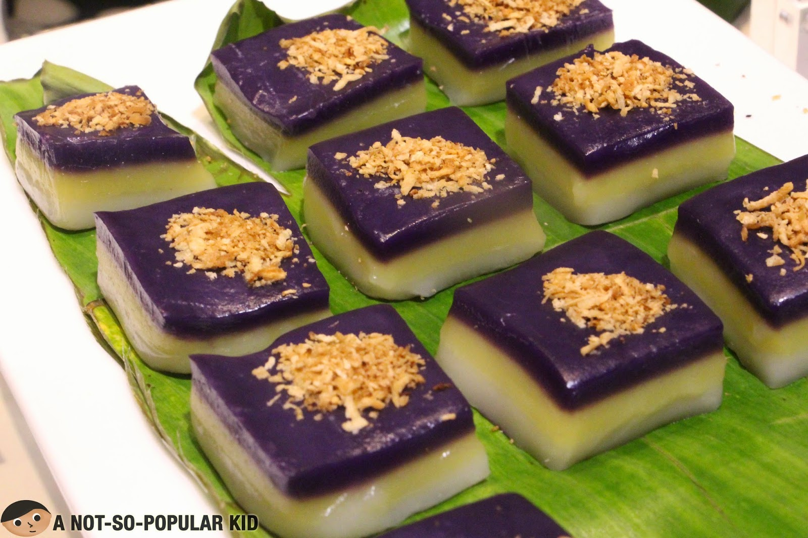 Filipino Sticky Rice Dessert called Sapin-Sapin