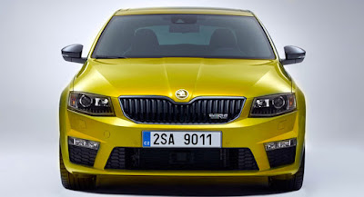 New 2017 Skoda Octavia vRS Yellow color Hd Photos