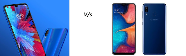 Redmi Note 7 v/s Samsung Galaxy A20