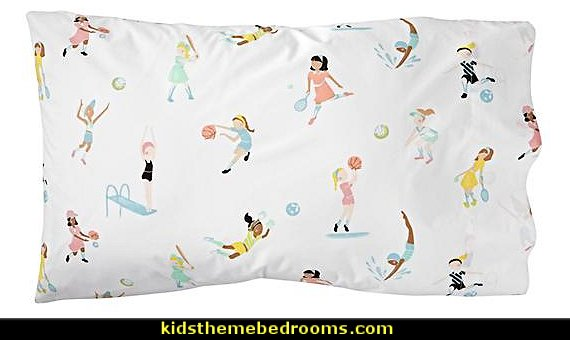 girls sports bedding