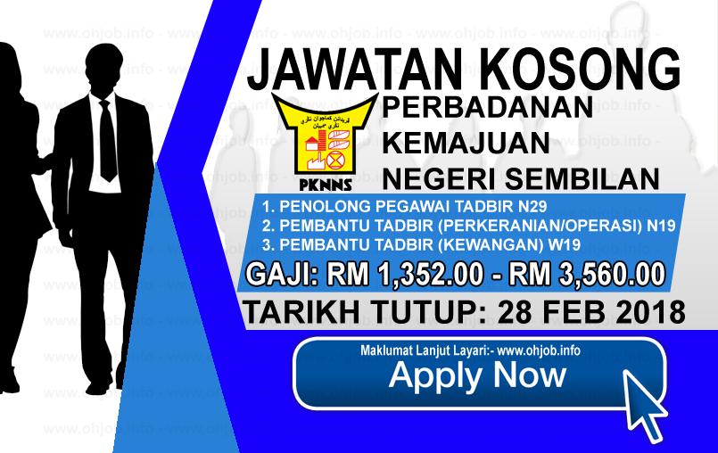Jawatan Kerja Kosong Perbadanan Kemajuan Negeri Sembilan - PKNNS logo www.ohjob.info februari 2018