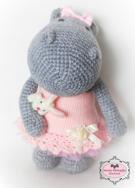 Szydełkowy hipopotam