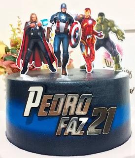 Toppers de Super Hëroes para Pastel o Tarta para Imprimir Gratis.