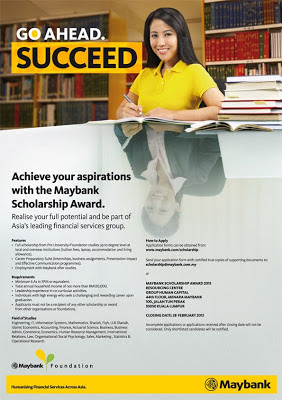 Maybank Foundation Scholarship & Sponsorship Awards