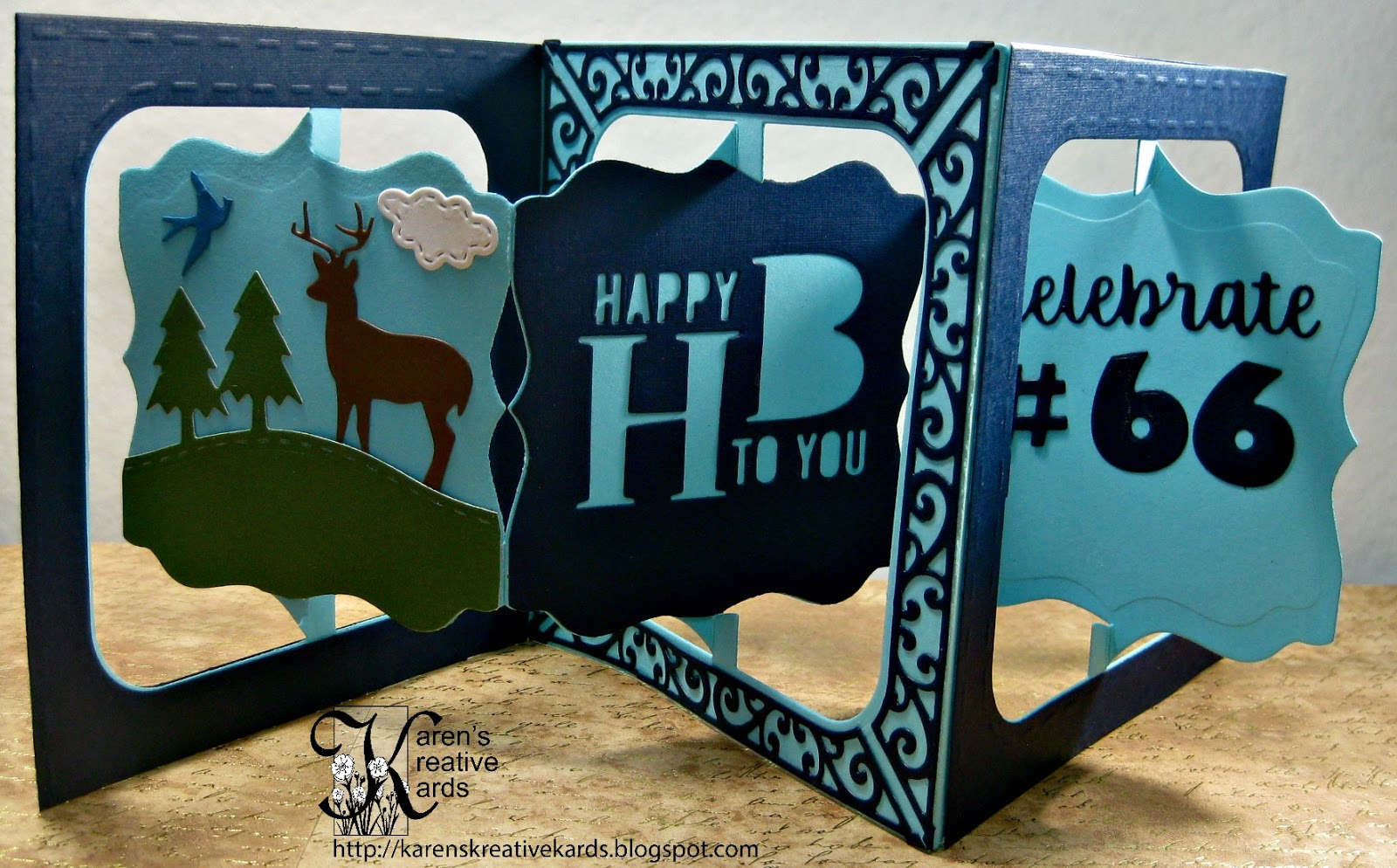 Karen\'s Kreative Kards: Personalized Birthday Pop-up Card for the ...