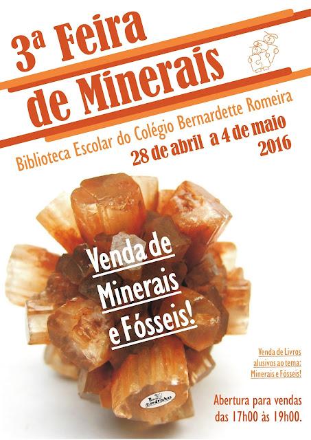 3ª Feira de Minerais na Biblioteca Escolar