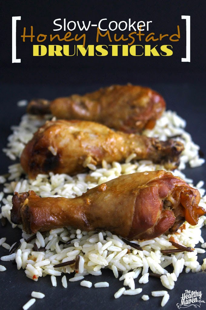 Slow Cooker Honey Mustard Drumsticks from www.thehealthymaven.com