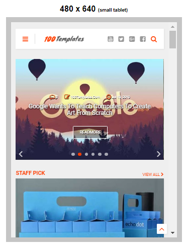 Mag One Blogger Templates Free Download