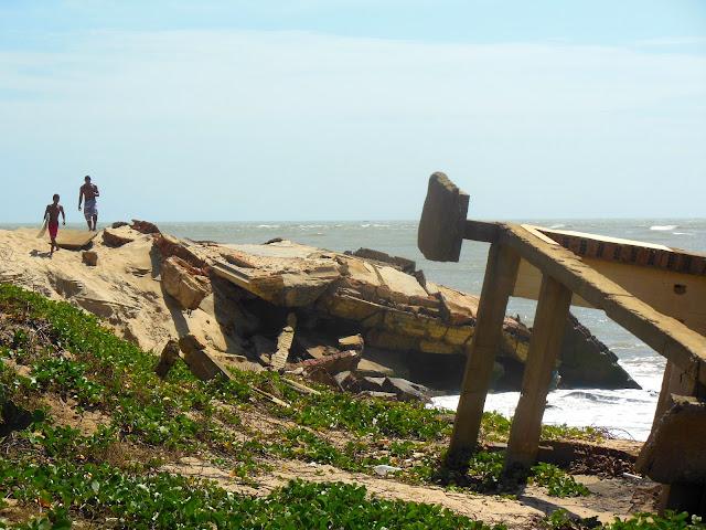 Praia de Atafona (RJ)/Foto: Marcelo Migliaccio