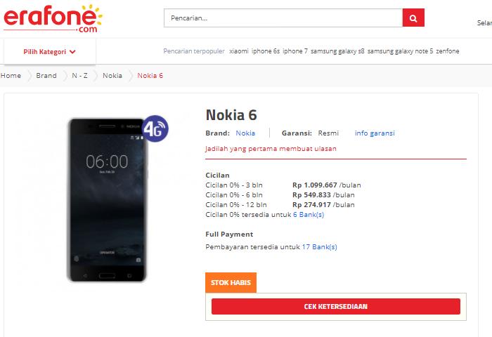 Harga Resmi Nokia 6 Kembali Terungkap! - nokianesia