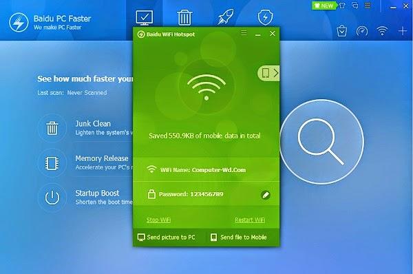 برنامج Baidu Wifi Hotspot لتحويل جهازك الى روتر ويرليس