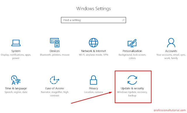 window 10 Update & Security