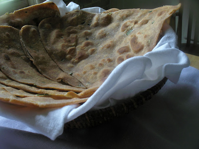whole wheat corn paratha
