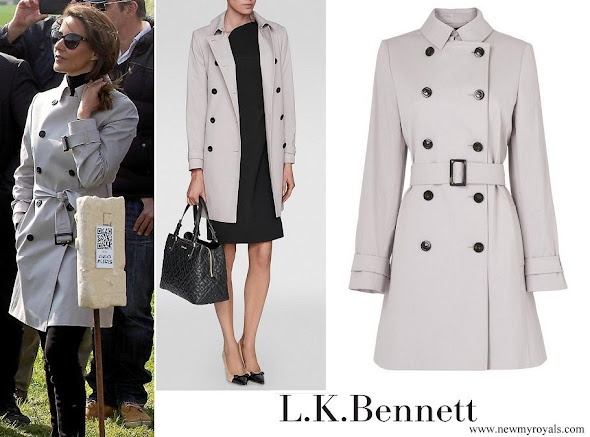 Princess Marie wore L.K. Bennett Boston Trench Coat