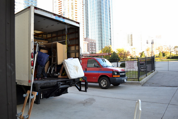 A full moving truck - lots of unpacking to do!