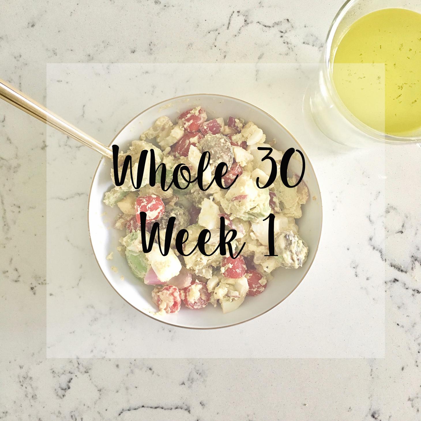 whole 30 week 1