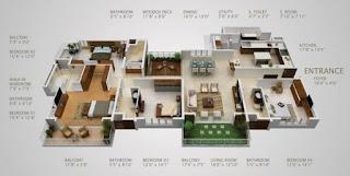 contoh pelan rumah 4 bilik