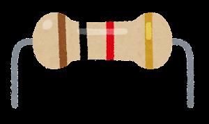 抵抗器のイラスト(4本)