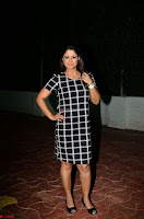 Shilpa Chakravarthy in Dark blue short tight dress At Srivalli Movie Pre Release Event ~  Exclusive Celebrities Galleries 055.JPG