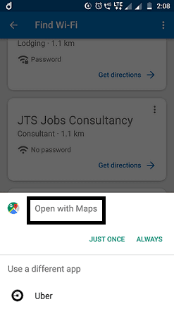 Open with Google Maps