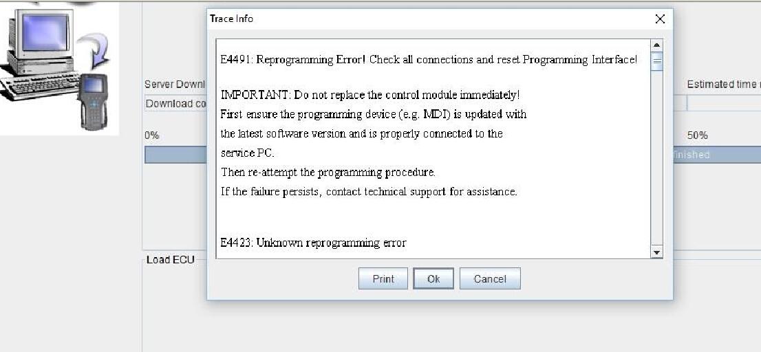 GM MDI E4491 E4423 Reprogramming Error Solution | Car OBD2 Tools