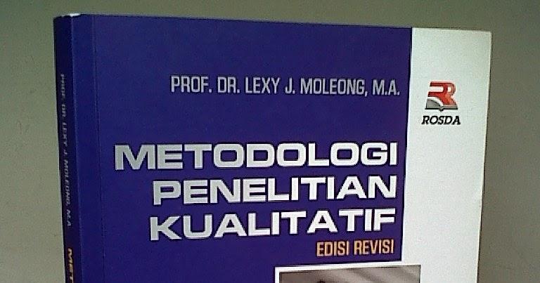 Ebook Metode Penelitian Kualitatif Moleong