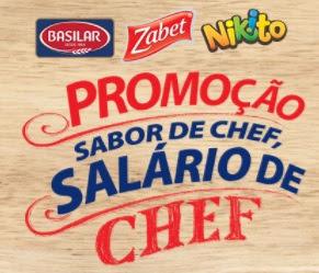 Cadastrar Promoção Zabet Basilar Nikito 2017 Sabor de Chef Salário de Chef