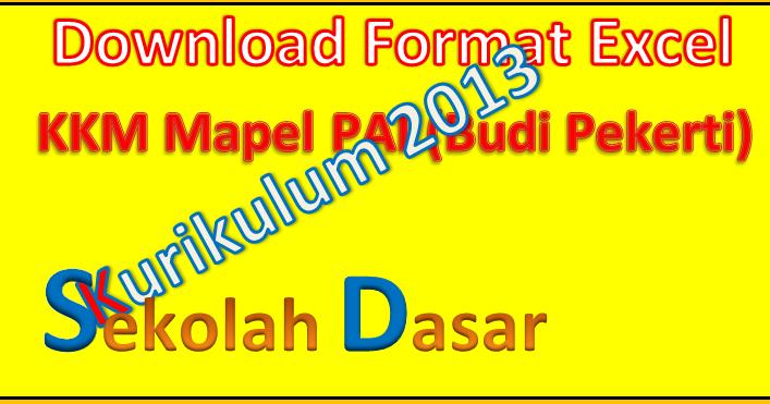 Kkm Budi Pekerti Kurikulum 2013 Untuk Sd Mi Sd Negeri 1