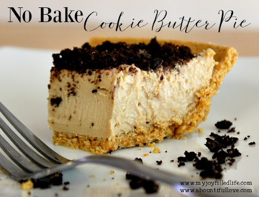 No Bake Cookie Butter Pie