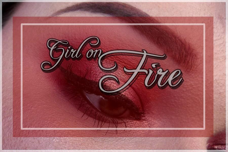 Girl on Fire eye makeup