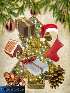 Fondos y elementos PNG navideños HD