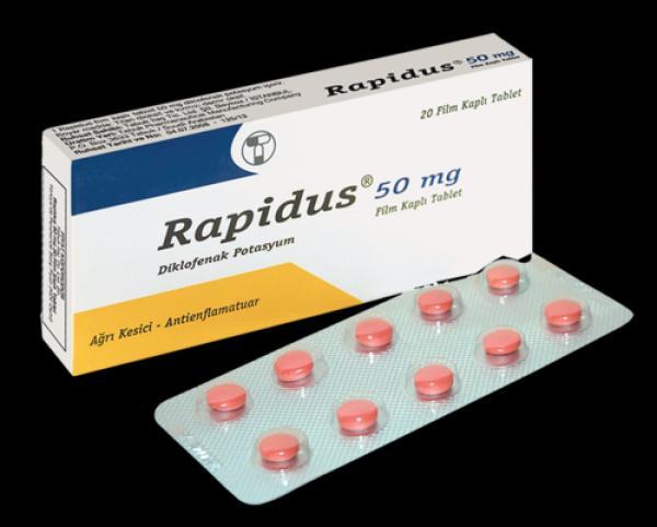 سعر ودواعى إستعمال رابيدوس Rapidus أقراص مسكن ومضاد للروماتيزم