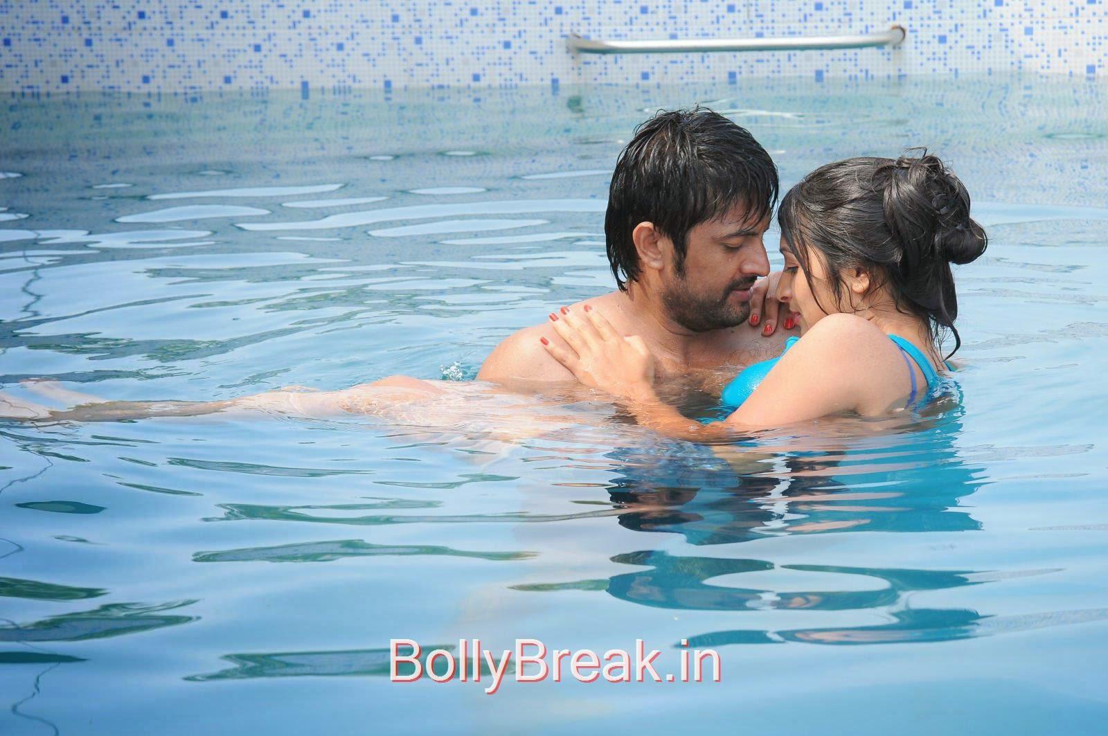Hot Pics Of Priya Vashisht In Akhil Karthik Swimming Pool Movie Stills 13 Pics