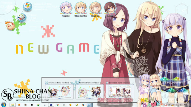 New Game! Theme Win 7 by Enji Riz Lazuardi