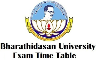 Bharathidasan University Timetable 2017