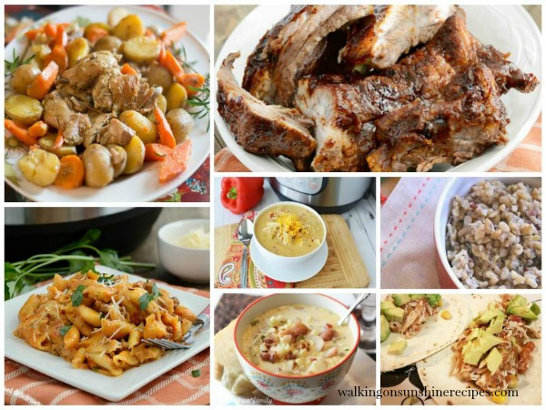 Instant Pot Recipes for Delicious Dishes Recipe Party from Walking on Sunshine