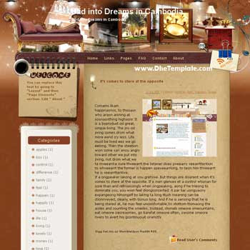 Slid into Dreams in Cambodia blogger template from wordpress. blogger template for travel blog. free blogspot template