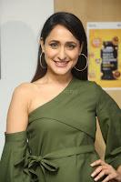 Pragya Jaiswal in a single Sleeves Off Shoulder Green Top Black Leggings promoting JJN Movie at Radio City 10.08.2017 101.JPG