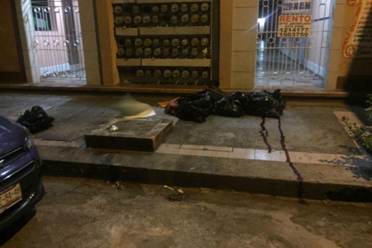 Dejan restos humanos embolsados en el centro de Veracruz.