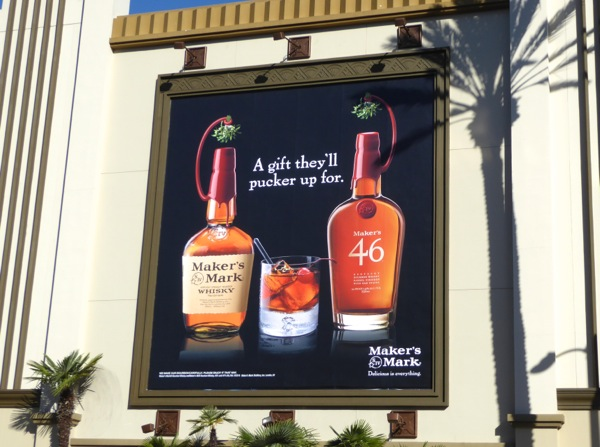 Makers Mark gift all pucker up billboard