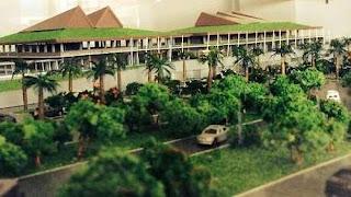 Bandara Blimbingsari Indonesian style airport.
