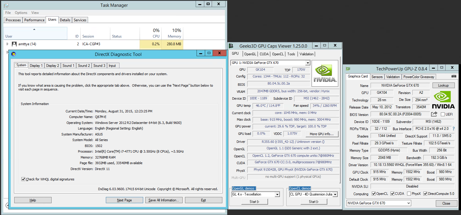 Trentent -- One and Only : Citrix XenApp, OpenGL pass